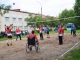 Волейбольный матч с волонтерами